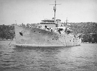 HMAS Broome (J191) - HMAS Broome