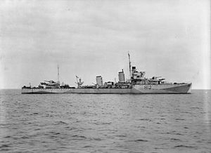 A- and B-class destroyer - Image: HMS Achates (H12)