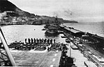 HMS Indomitable (92) and USS Cabot (CVL-28) at Gibraltar, in early 1952.jpg