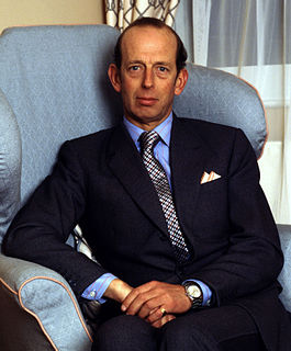 Prince Edward, Duke of Kent grandchild of King George V and Queen Mary