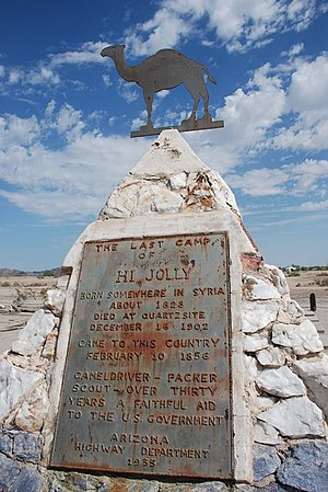La Paz County, Arizona - Hi Jolly monument near Quartzsite