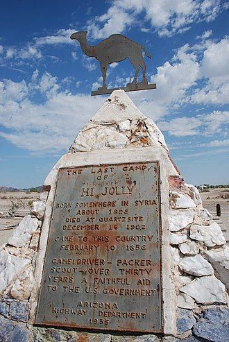 National Register of Historic Places listings in La Paz County, Arizona - Image: Hadji Ali Monument 20080707