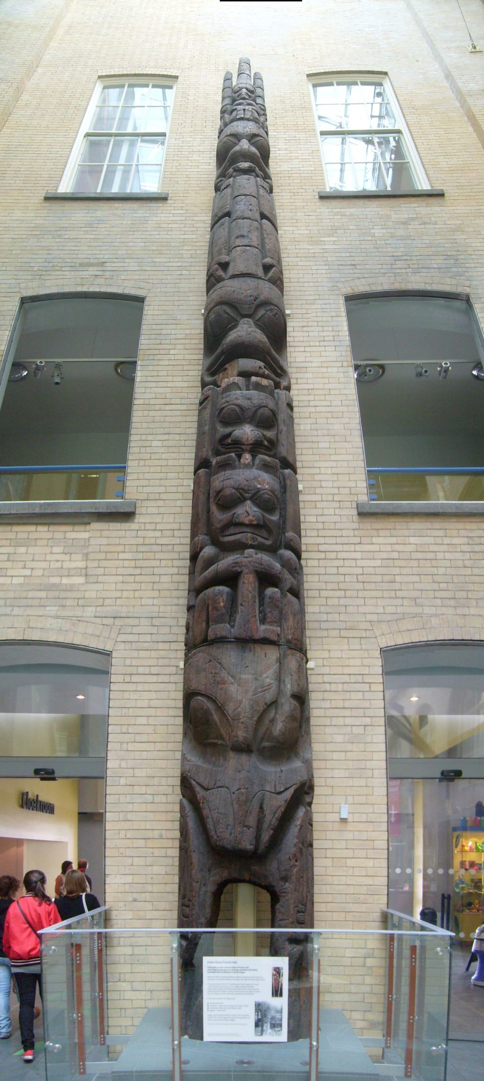 Haida House Frontal Pole, Liverpool Museum July 08 2010