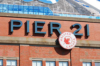 Halifax: sign of Pier 21