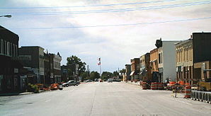 Main Street in Hamburg, Iowa