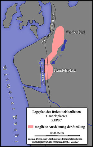 Reric - Map of Reric as located near Strömkendorf