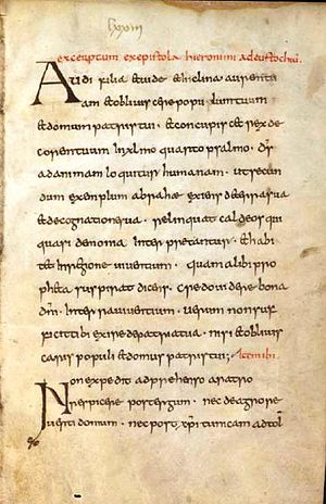Synods of Aachen (816–819) - Manuscript of the canonical regulations laid down at the Synod of Aachen (Dombibliothek Würzburg M.p.th.q.25 Concilium Aquisgranense a. 816. Institutio sanctimonialium Aquisgranensis)