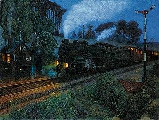 Speeding express train