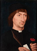 Hans Memling - Portrait of a Man with a Pink - Google Art Project.jpg