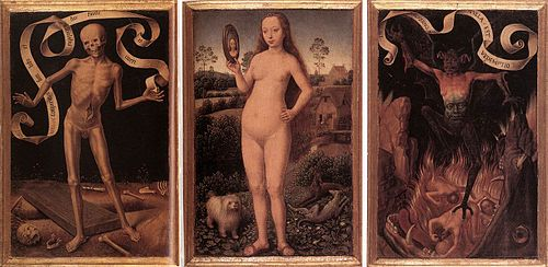 Hans Memling - Triptych of Earthly Vanity and Divine Salvation (front) - WGA14938.jpg