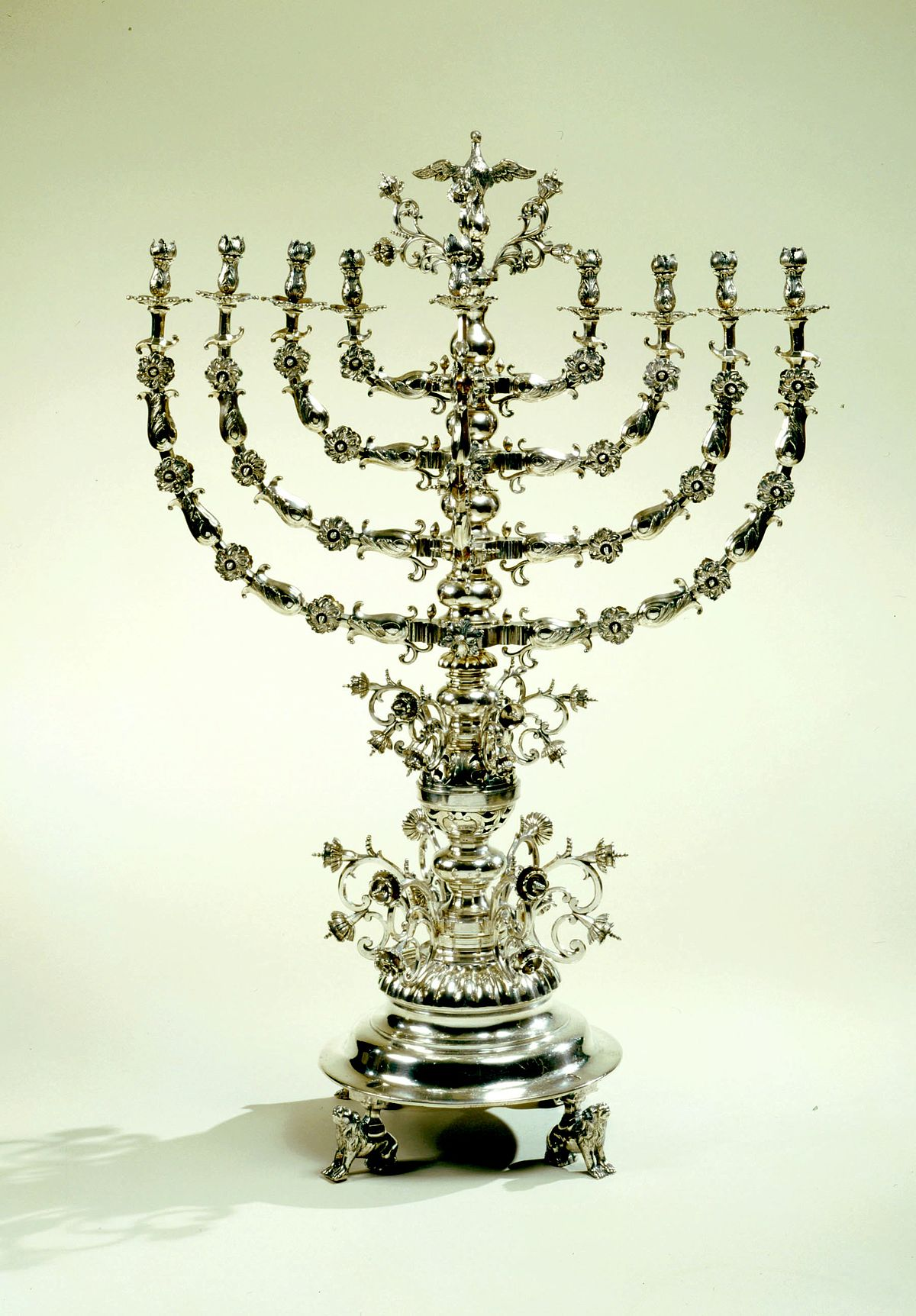 image regarding Hanukkah Prayer Printable known as Menorah (Hanukkah) - Wikipedia