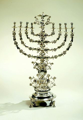 Menorah (Hanukkah) - Hanukkah Lamp from Lemberg, Austria-Hungary, 1867–72. Collection of The Jewish Museum of New York