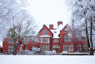 Harper Adams University - A wintertime view from the university's west lawn.