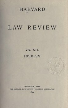 Harvard Law Review Volume 12.djvu