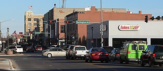 Hastings, Nebraska - Downtown Hastings: 2nd Street, looking eastward (2012)