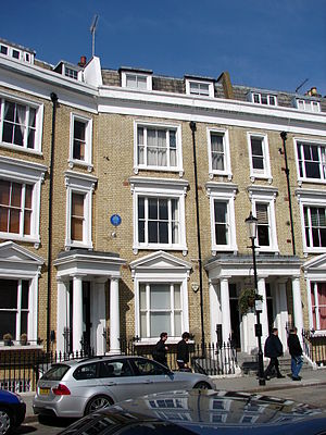 Hattie Jacques - Jacques's house, 67 Eardley Crescent, Earls Court, London