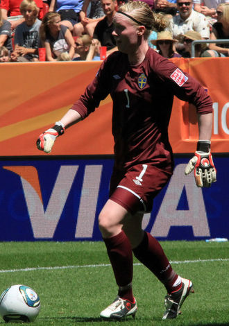 Hedvig Lindahl - Lindahl as goalkeeper for Sweden in the 2011 World Cup