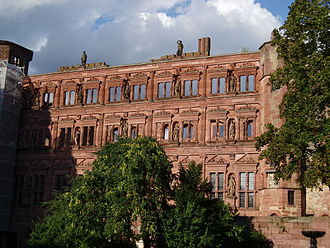 Maria Anna of Neuburg - Part of Heidelberg Castle, burned by the French in 1689 and never rebuilt