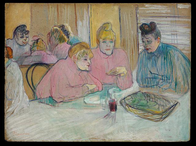 """Peinture de Toulouse Lautrec, """"Les femmes de la salle à manger"""" ?"""