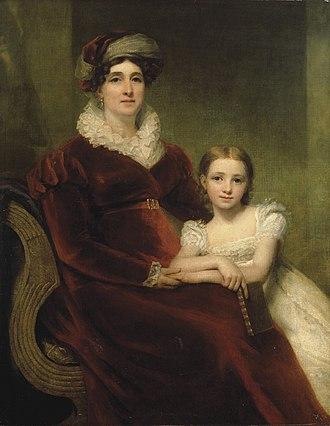 William Allan of Glen - Henry Raeburn's portrait of Allan's mother and niece