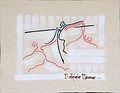 High jump women-track and field painting of Raffaello Fabio Ducceschi.jpg