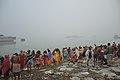 Hindu Devotees Taking Holy Dip In Ganga - Makar Sankranti Observance - Baje Kadamtala Ghat - Kolkata 2018-01-14 6518.JPG