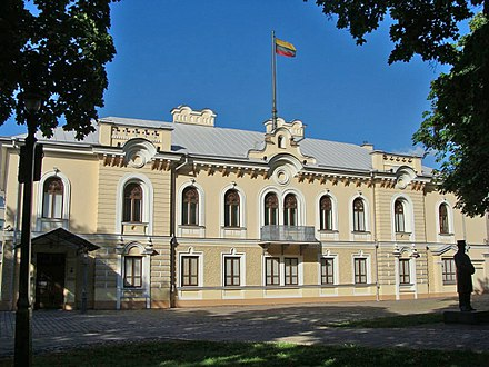 Presidential Palace in Kaunas, where the last meeting of the independent Government of Lithuania took place on the night of 14 June 1940 Historical Presidential Palace in Kaunas (2017).jpg