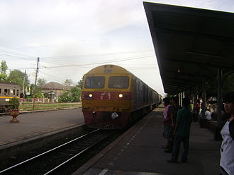 Northern Line (Thailand) - An inter-city train at Lopburi Railway Station