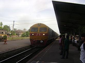 Northern Line (Thailand) - An inter-city train at Lopburi Railway Station