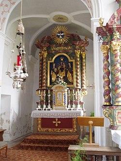 Hitzhofen, alte Pfarrkirche, Hochaltar.jpg