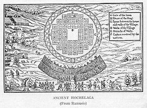 Hochelaga (village) - La Terra de Hochelaga Nella Nova Francia (1909), based on an illustration from 1565.