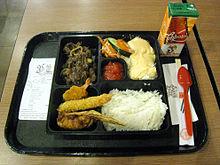 A Bento Meal At Hokben Restaurant