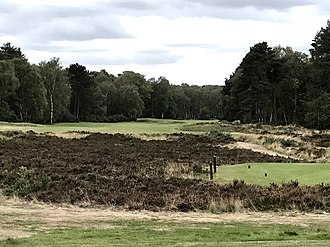 Woodhall Spa Golf Club - 13th hole from the tee (Hotchkin)