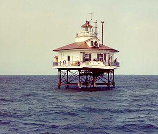 Holland Island Bar Light lighthouse in Maryland, United States