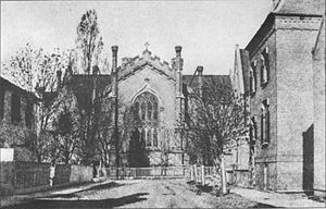 Church of the Holy Trinity (Toronto) - Image: Holy Trinity Church on Trinity Square, Toronto, c 1870 5