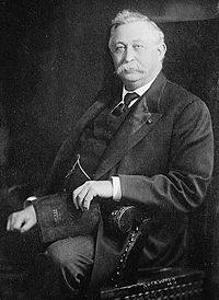 Horatio Collins King, seated