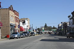 Looking east at downtown Hortonville