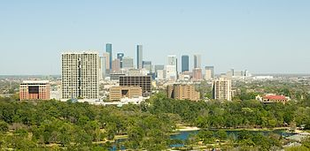Midtown and downtown Houston, Texas.