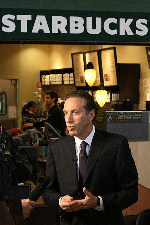 Starbucks CEO Howard Schultz is all abuzz