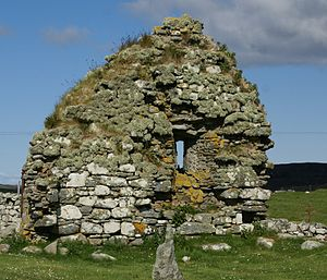 South Uist - The remains of the early-13th-century Howmore monastery