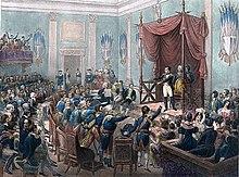 Huldigung der Rheinbundfürsten (Charles Motte, kolorierte Lithografie) (Quelle: Wikimedia)