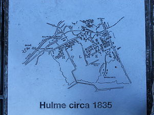 Hulme - Hulme map 1835, reproduced in A Hulme People's History in Hulme Park