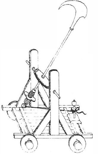 Chinese siege weapons - A hungry falcon cart