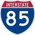Interstate 85 marker