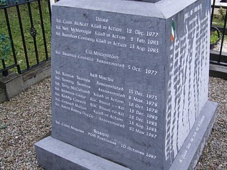 Irish National Liberation Army - An INLA memorial in Milltown Cemetery, Belfast