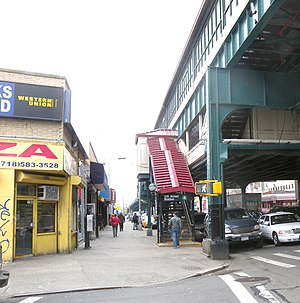 176th Street (IRT Jerome Avenue Line) - Street stair