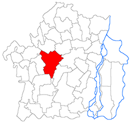 Location in Brăila County