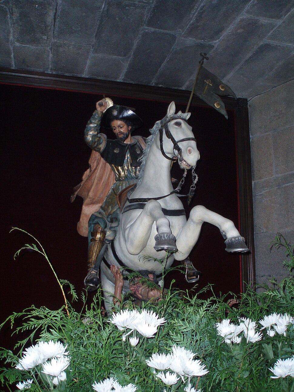 Imágen de Santiago matamoros. Catedral de Santiago de Compostela