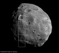 Image of Phobos with footprints of the Super Resolution Channel ESA204914.tiff