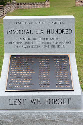 "Immortal Six Hundred - Monument to the Confederate ""Immortal Six Hundred"" at Fort Pulaski National Monument in Savannah, Georgia"